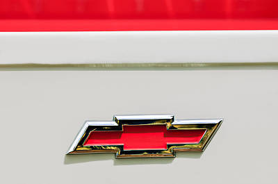 Cameo Photograph - 1955 Chevrolet Cameo Pickup Truck Emblem by Jill Reger