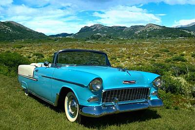 1955 Chevrolet Convertible Art Print