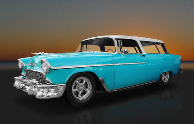 Photograph - 1955 Chevrolet Nomad Station Wagon by Frank J Benz