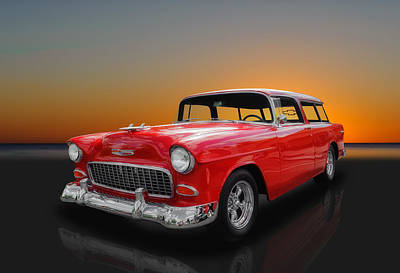 Photograph - 1955 Chevrolet Nomad Wagon by Frank J Benz