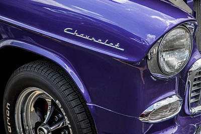Purple V8 Photograph - 1955 Chevrolet Purple Monster by Rich Franco