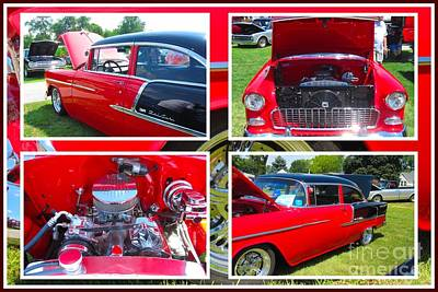 Photograph - 1955 Chevrolet Sedan Collage by Margaret Newcomb