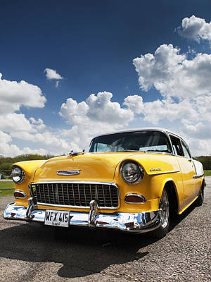 1955 Chevrolet Art Print by Tim Gainey