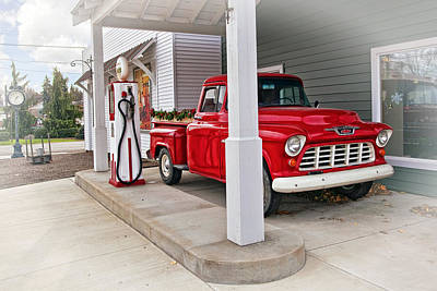 Vintage Photograph - 1955 Chevy 3100 Truck by Marcia Colelli
