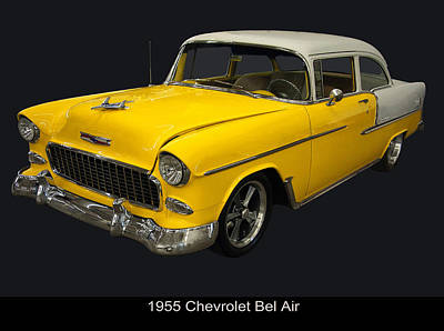 Featured Images Photograph - 1955 Chevy Bel Air Harvest Gold by Chris Flees