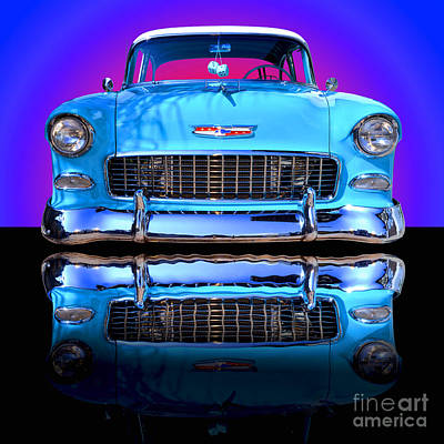Chrome Photograph - 1955 Chevy Bel Air by Jim Carrell