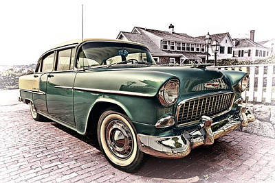 Antique Car Photograph - 1955 Chevy Bel Air by Marcia Colelli
