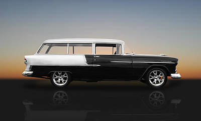 Photograph - 1955 Chevy Bel Air Wagon by Frank J Benz