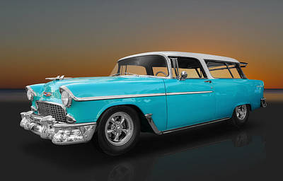 Photograph - 1955 Chevy Nomad Wagon by Frank J Benz