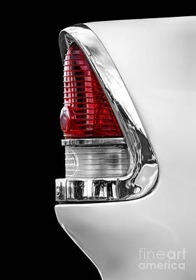 Photograph - 1955 Chevy Rear Light Detail by Ken Johnson