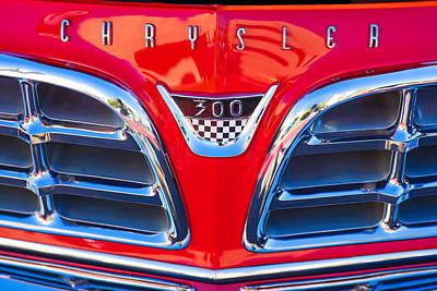 Chrysler 300 Photograph - 1955 Chrysler C-300 Grille Emblem by Jill Reger