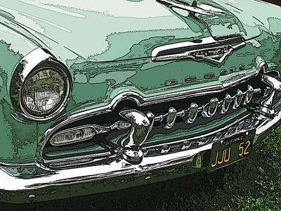 Photograph - 1955 Desoto Grille by Samuel Sheats