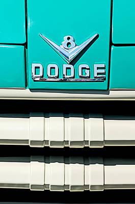 Photograph - 1955 Dodge C-3-b8 Pickup Truck Grille Emblem by Jill Reger