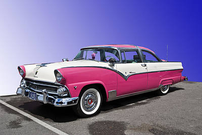 1955 Ford Crown Victoria Art Print by Gianfranco Weiss