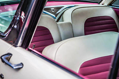Photograph - 1955 Ford Seats by Karen Saunders