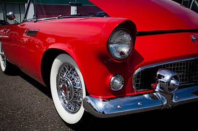 Thunderbird Photograph - 1955 Ford T-bird by David Patterson