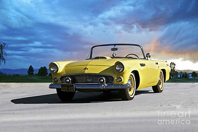 Roaring Red - 1955 Ford Thunderbird Convertible by Dave Koontz