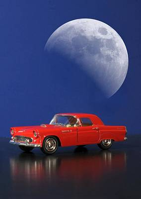 Photograph - 1955 Ford Thunderbird by Diana Angstadt