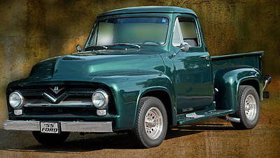 Photograph - 1955 Ford Truck by Carlos Diaz