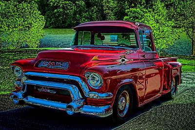 Photograph - 1955 Gmc 100 Pickup Truck by Tim McCullough