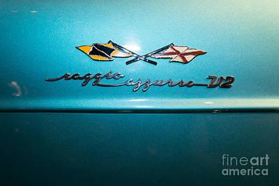 Photograph - 1958 Lancia Nardi Blue Ray II Dsc2673 by Wingsdomain Art and Photography