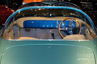 Photograph - 1955 Lancia Nardi Blue Ray I Dsc2675 by Wingsdomain Art and Photography