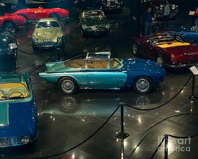 Photograph - 1955 Lancia Nardi Blue Ray I Dsc2694 by Wingsdomain Art and Photography
