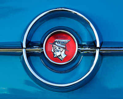 Photograph - 1955 Mercury Monterey  Emblem by Jill Reger