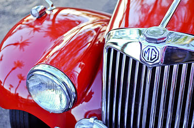 Photograph - 1955 Mg Tf 1500 Grille by Jill Reger