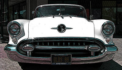 Photograph - 1955 Oldsmobile 88 by Samuel Sheats