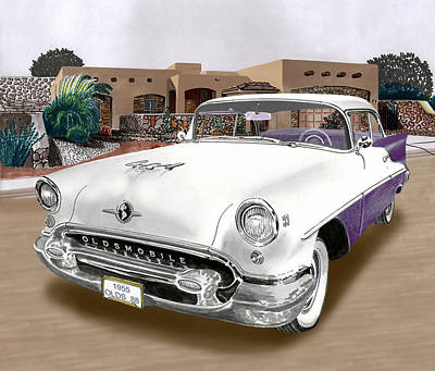 Your Home Painting - 1955 Oldsmobile Super 88 by Jack Pumphrey
