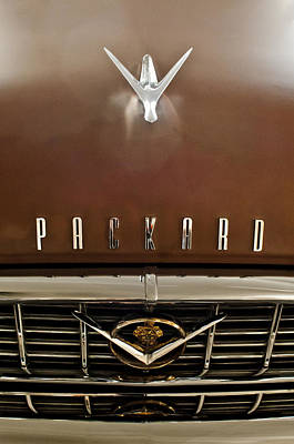 Hoodie Photograph - 1955 Packard 400 Hood Ornament by Jill Reger