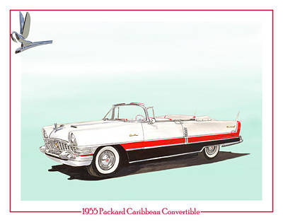 Painting - 1955 Packard Caribbean Converible by Jack Pumphrey