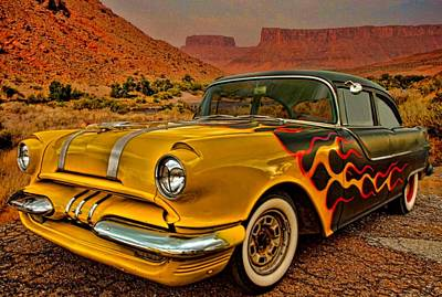 Photograph - 1955 Pontiac Chieftain Street Rod by Tim McCullough