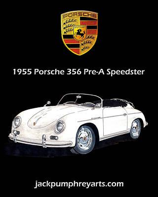 Painting - 1955 Porsche 356 Pre A Speedster by Jack Pumphrey
