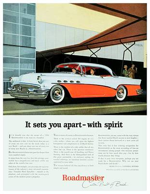 1956 - Buick Roadmaster Convertible - Advertisement - Color Art Print