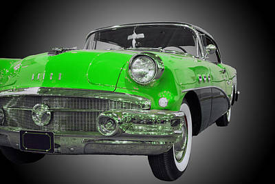 Photograph - 1956 Buick Special Riviera Coupe-green by Michael Porchik