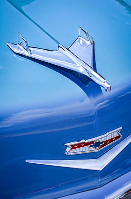 1956 Chevrolet 210 2-door Handyman Wagon Hood Ornament - Emblem Art Print by Jill Reger