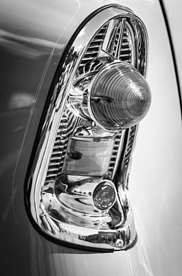 Wagon Photograph - 1956 Chevrolet 210 2-door Handyman Wagon Taillight -082bw by Jill Reger