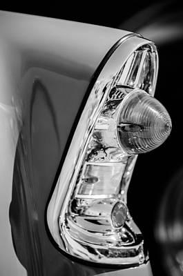 Wagon Photograph - 1956 Chevrolet 210 2-door Handyman Wagon Taillight -090bw by Jill Reger