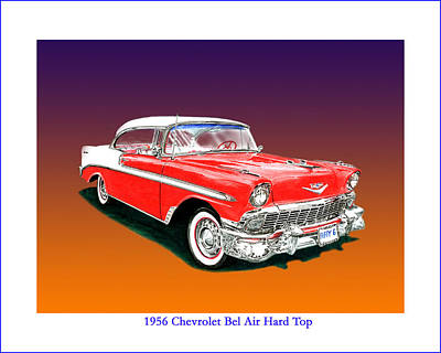 Muscle Car Painting - 1956 Chevrolet Bel Air Ht by Jack Pumphrey