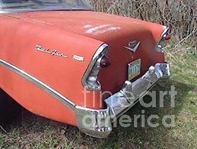 Photograph - 1956 Chevrolet Bel Air Rear View by Windy Mountain