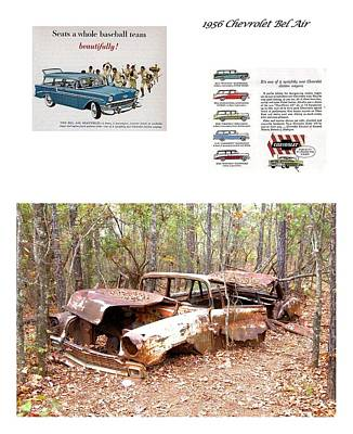 Photograph - 1956 Chevrolet Bel Air Wagon by Gordon Elwell