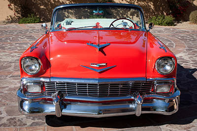 Photograph - 1956 Chevrolet Belair Convertible Custom V8 -051c by Jill Reger