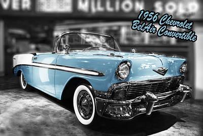 Photograph - 1956 Chevrolet Belair Convertible by Michael Osinski