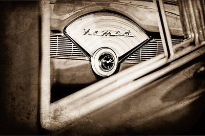 1956 Chevrolet Belair Nomad Dashboard Emblem Art Print by Jill Reger