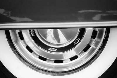 1956 Chevy Photograph - 1956 Chevrolet Belair Wheel Emblem by Jill Reger