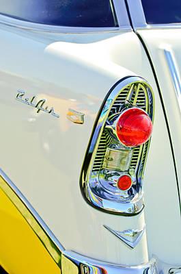 1956 Chevy Photograph - 1956 Chevrolet Beliar Nomad Taillight Emblem by Jill Reger