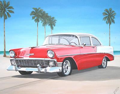 Painting - 1956 Chevrolet by Branden Hochstetler