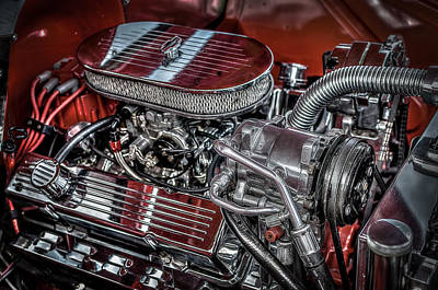Photograph - 1956 Chevrolet Farm Truck Engine by David Morefield